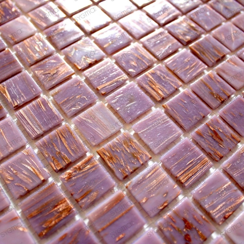 Glass Mosaic vitro rose 1sqm