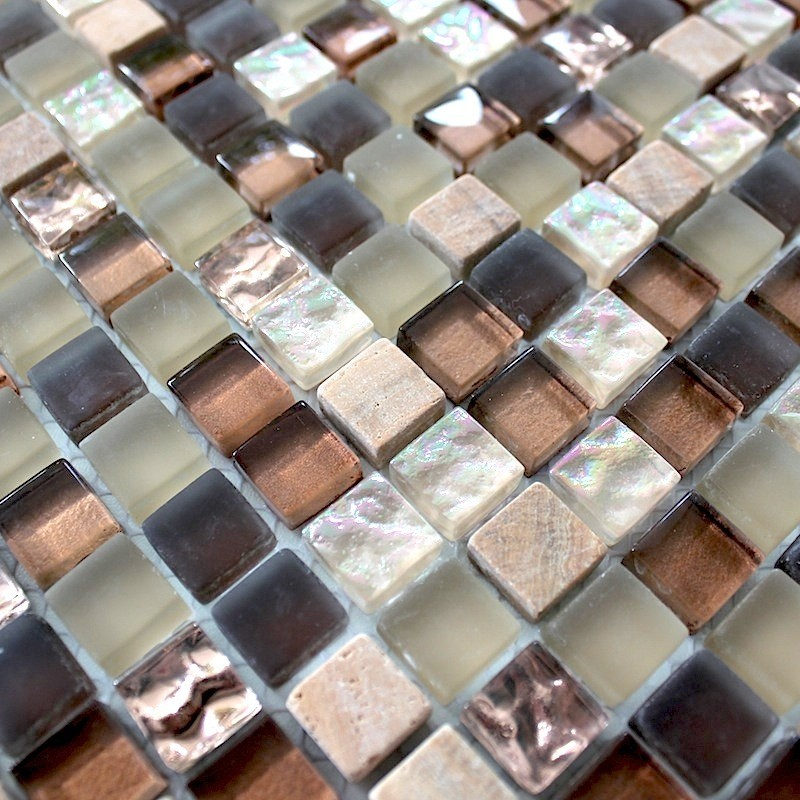 Mosaico de virio y piedra cocina ducha bano ottawa 1m2 - carrelage ...