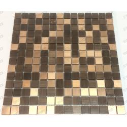 Mosaique inox crédence de cuisine fond de hotte SOUL