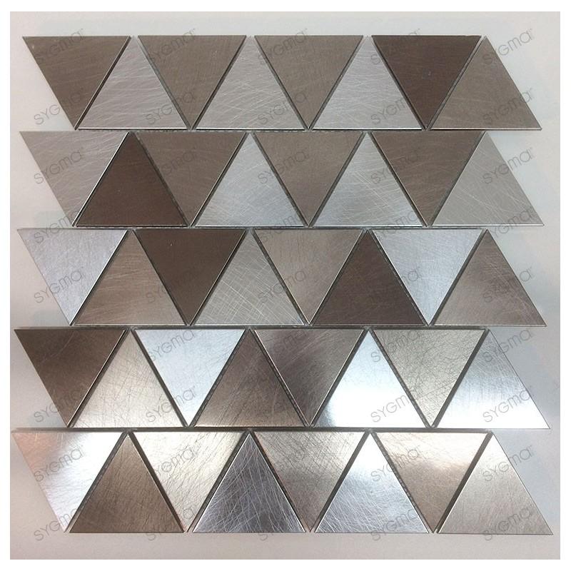 mosaico aluminio frente cocina ducha baño Cox