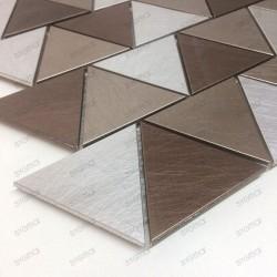 mosaique aluminium credence cuisine cox
