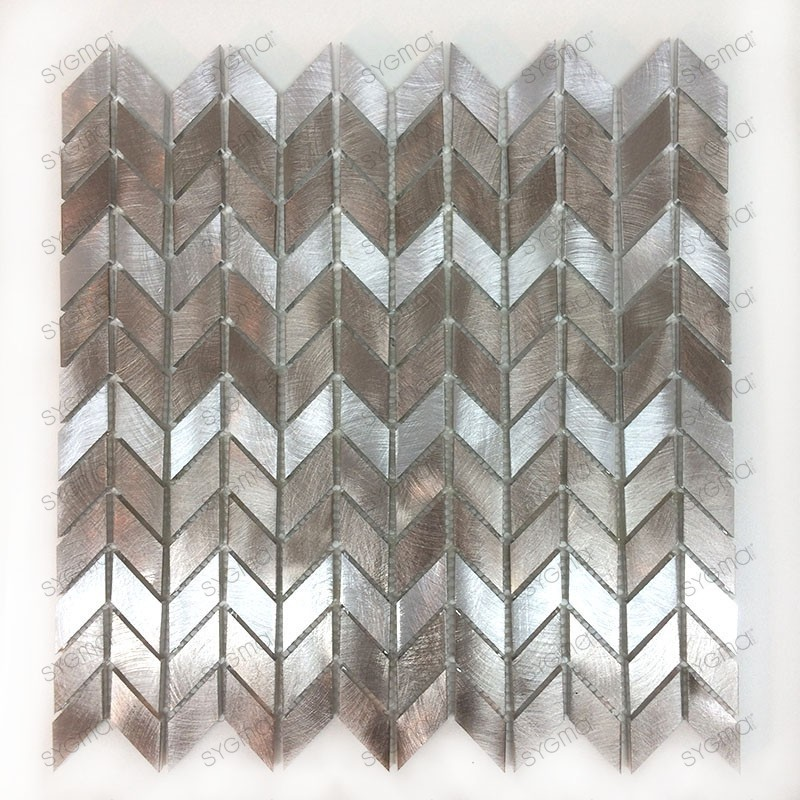 mosaico aluminio frente cocina ducha baño Brony
