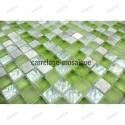 Glass and stone mosaic shower bathroom splashback  samba 1sqm
