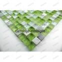 Mosaique verre et pierre douche italienne, salle de bain samba 1m2