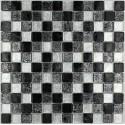 suelo mosaico cristal ducha baño frente cocina 1m2 lux noir 23