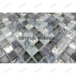 Glass and stone mosaic shower bathroom splashback mezzo 1sqm