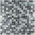 Glass and stone mosaic shower bathroom splashback mezzo 1sqm