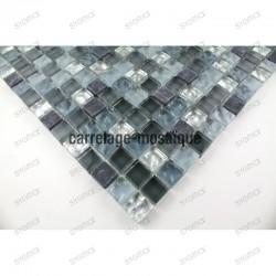 Mosaique verre et pierre credence cuisine mezzo 1m2