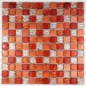 Mosaique aluminium nomade orange 1m2