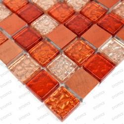 Mosaique aluminium nomade orange 1m2