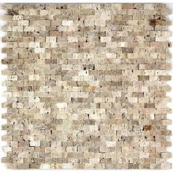 Mosaico de piedra cinza beige 1m2