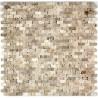 Mosaique de pierre credence cuisine cinza beige 1m2