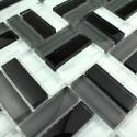 Mosaic tiles glass city noir 1sqm