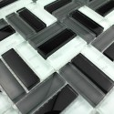 suelo mosaico cristal ducha baño frente cocina city noir 1m2