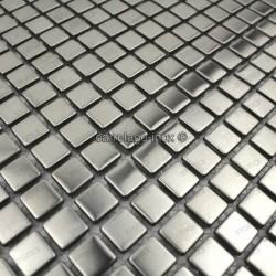 sample of stainless stell mosaic for splashback model Alea