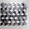 Carrelage aluminium mosaique cuisine echantillon Hiba