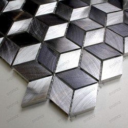 Aluminium mosaic sample for splashback worktop Model Hiba