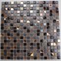 muestra mosaico vidrio cuarto de bano Inesse