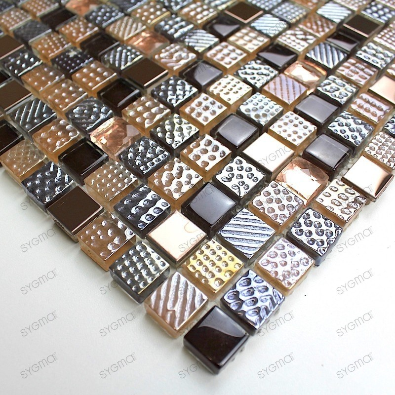 sample glass mosaic for shower, splashback Inesse
