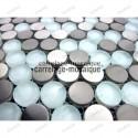 sample of stainless stell mosaic for splashback Multi round