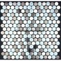 Mosaico de acero inxidable para cocina y ducha Multi round