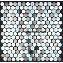 echantillon carrelage inox mosaique douche Multi round