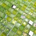 echantillon mosaique de verre douche italienne Harris vert