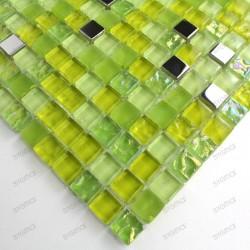 muestra mosaico de vidrio para ducha y cuarto de bano Harris vert