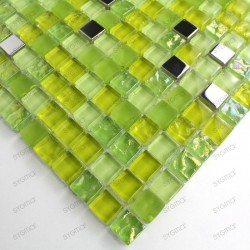 sample glass mosaic for shower or bathroom Harris vert