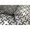 sample of stainless stell mosaic for splashback shower or bathroom Cross