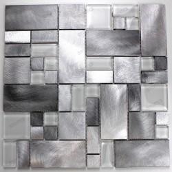 Aluminium mosaic sample for splashback worktop