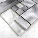 Carrelage aluminium mosaique credence cuisine echantillon Aspen