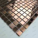 sample stainless stell mosaic for splashback bathroom Mixtion cuivre
