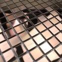 Carrelage inox mosaique inox crédence cuisine echantillon mixtion cuivre