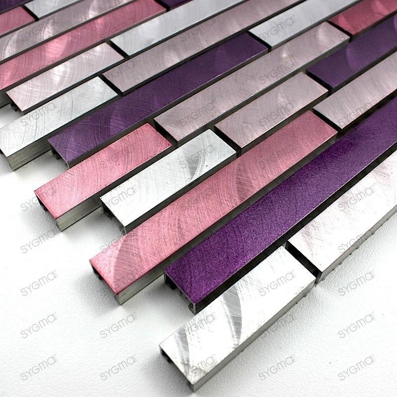 Mosaico de Aluminio muestra para cocina y banos Blend Violet