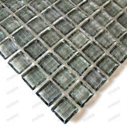 sample of glass mosaic for shower bathroom crystal neutre