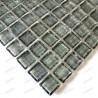 Mosaique de verre douche italienne Crystal gris echantillon