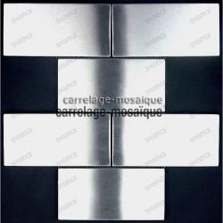 Carrelage inox mosaique inox echantillon brick 150