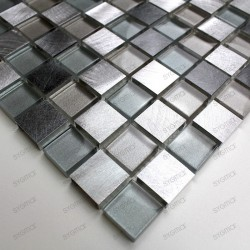 Aluminium mosaic sample for splashback worktop kitchen Heho
