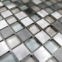 Carrelage aluminium mosaique crédence cuisine echantillon Heho