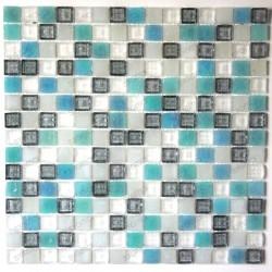 mosaique de verre sol douche et salle de bain Crystal Holly