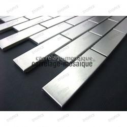 Mosaico de acero inoxidable para cocina y ducha Brick 64 muestra