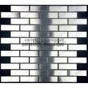 Mosaico de acero inxidable para cocina y ducha Brick 64 muestra