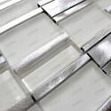 Mosaico de Aluminio muestra para cocina y banos ceti blanc