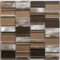 Mosaico de Aluminio muestra para cocina y banos Albi Marron