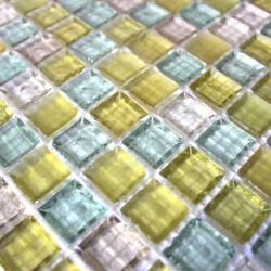 Mosaique de verre douche italienne crystal jimy echantillon