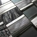 Mosaico de Aluminio muestra para cocina y banos Albi Gris