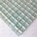 muestra de mosaico de vidrio para ducha italiana Crystal Neutre