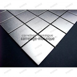 stainless stell mosaic for kitchen  splashback regular 48 sample