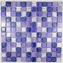 Aluminium mosaic sample for splashback kitchen worktop Nomade Violet